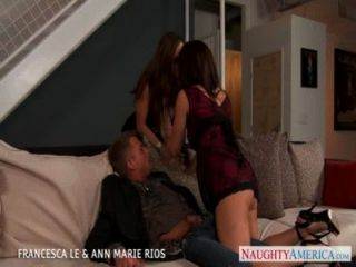 Hot Francesca Le And Ann Marie Rios Fuck In Threesome