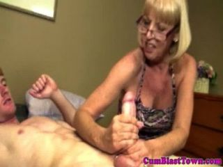 Cumshot Loving Grandma Gets Drenched
