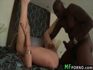 Blonde Pornstar Takes Huge Black Cock Courtney Cummz 4