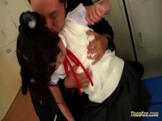 Schoolgirl With Pet Ears Getting Her Legs Licked Nipples Sucked Pussy Rubbed By