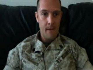 Army Guy Cums Big