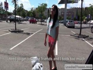 Dude Fucks Russian Teen In His Car In Public