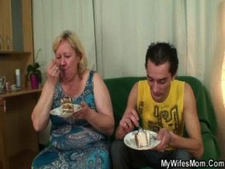 Huge Titted Mother In Law Pleases Him
