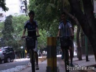 Cycling Boyfriends Get Dirty In A Shower