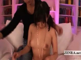 Subtitled Uncensored Japanese Woman Spread For Foreplay