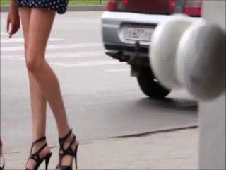 Sexy Girls Walking Down The Street - Legs, Ass And Heels