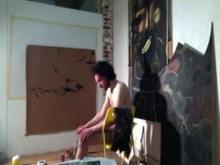 Action-painting Artist Draw With His Cock (arte Del Cazzo)