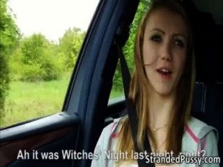 Beautiful Beatrix Gets Banged Hard In The Backseat Of The Car