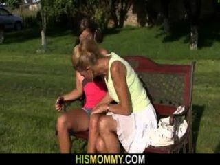 She Pleases Her Horny Old Pussy