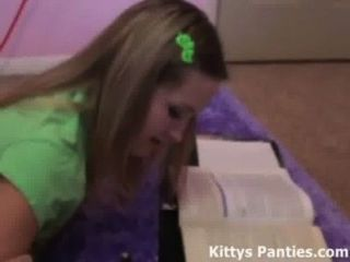 Kitty Teasing You While Doing Her Homework