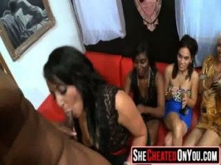 62 Lovely Sluts Guzzling Cum At Sex Party!26