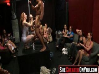 25 Rich Milfs Blowing Strippers At Underground Cfnm Party!35