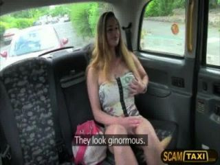 Huge Tits Cathy Gets Pussy Pounded In The Backseat Of The Cab