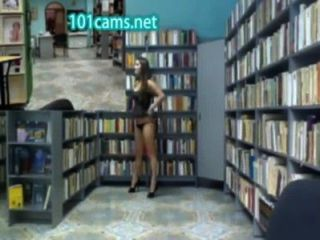 Gilr Flashes Ass In Library In Front Of Cam Public Nudity