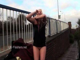 Naughty Blonde Babes Public Nudity And Upskirt Masturbation Of Voyeur Amateur