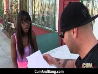Ebony Slut In An Amazing Gangbang 22