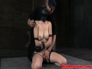 She's sexy. bdsm sensory deprivation pussy tight