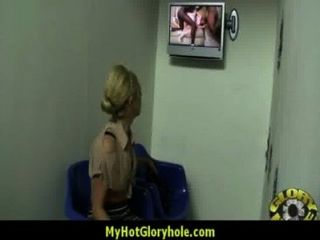 Interracial - White Lady Confesses Her Sins At Gloryhole 20