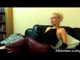 Alluring Sexy Smoking Beauty Pounded