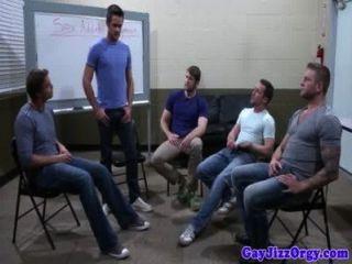 Groupsex Gay Hunks Sucking Hard Cock