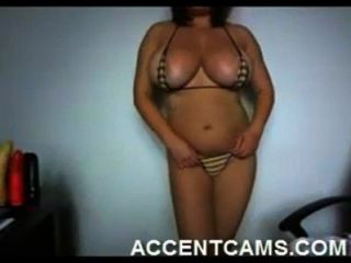 Girl With Huge Tits Stripping