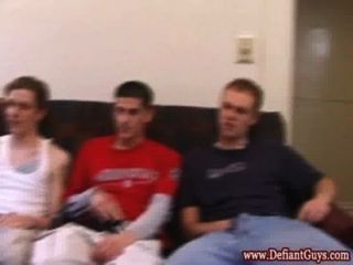 Group Of Straight Amateurs Wanking