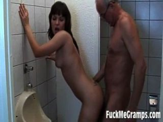 Grandpa Fucks Teen In Bathroom