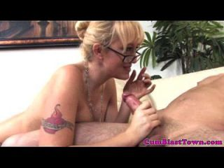 Cumshot Loving Spex Cougar Spoils Dick