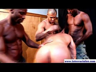 Interracial Threeway With Black Cock Fucking
