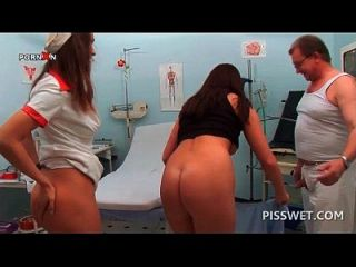 Dirty Doctor Pissing In His Patients Craving Cunt