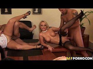 Office Gang Bang Orgy Aletta Ocean, Alison Star, Manuella, Sarah Simon 1 5