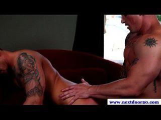 Tattooed Muscle Pounding Tight Butt