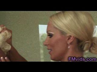 Sexy Blonde Milf Diana Doll Bathtub Play