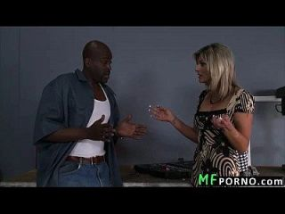 Skinny Blonde Tries Big Black Dick Klarisa Leone 1