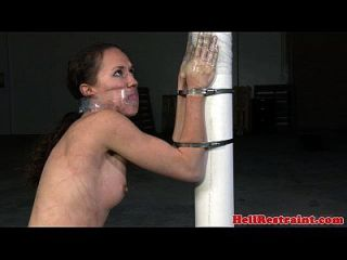 Asphyxiated Sub Hands And Body Spanked