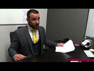 Hairy British Studs Cumming In Office