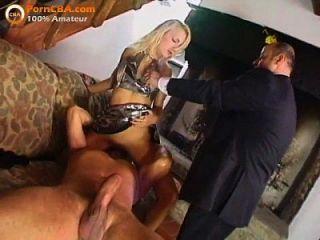 Anal Threesome Porn Video