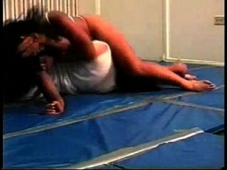 Nice Mixed Wrestling With Bodyscissors