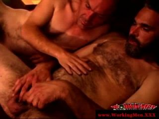 Hairy Mature Gay Guy Waiting For Cumshot