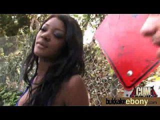 Interracial Bukkake Sex With Black Porn Star 14
