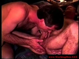 Hairy Straight Guy Sucking Pals Dick
