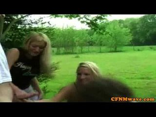 Cfnm Jerking Lovers Tugging Outdoor