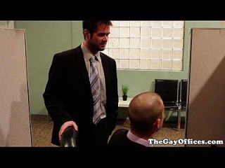 Gay Office Hunk Drilled Until They Cum