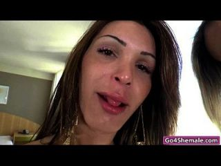 Ts Angel Cortez Sucked By And Anal Bangs Ts Leticia Andrade