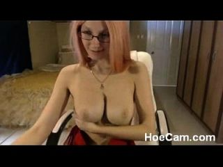 Big Tits Blonde Milf In Glasses Webcam Tease