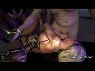German Teen Pornstar Sexy Cora Gangbang With 40 Mens
