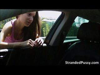 Gorgeous Babe Anita Gets Fucked From Behind In The Car And Receives A Hot Cum
