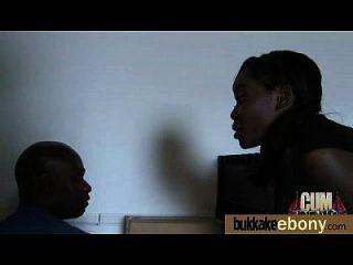Interracial Bukkake Sex With Black Porn Star 16