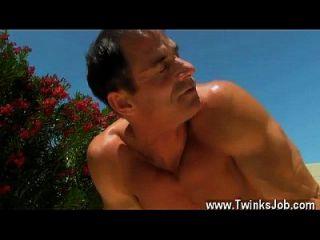Twink Sex Daddy Poolside Prick Loving