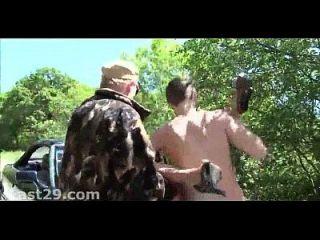 Redhead Fucks Old Man Outside